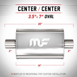 Magnaflow 2″ Centrado-Centrado