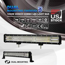 20inch 1092W Philips LED Work Light Bar Spot Flood 8D SUV Offroad Driving Lamps