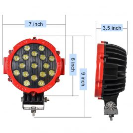"7"" 51W Cree LED Work Light Spot Beam Offroad Truck JEEP ATV 4WD 12V Lighting"