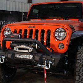 Jeep Wrangler JK Front Stubby Winch Bumper W/ LED Cutout 07-17 Fishbone FB22004