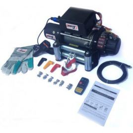 Winche eléctrico 9500lbs + Piola Sintetica