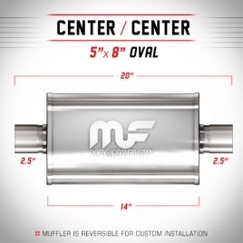 Magnaflow 2,5″ Centrado-Centrado