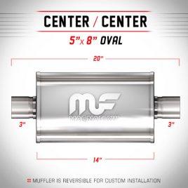 Magnaflow 3″ Centrado-Centrado