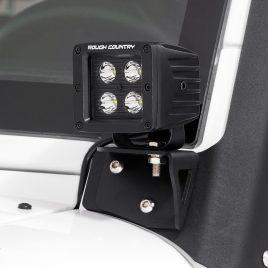 Soporte Focos Led en Parabrisas – Jeep Wrangler JK